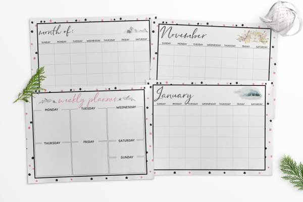 Chic Holiday Planner Printables