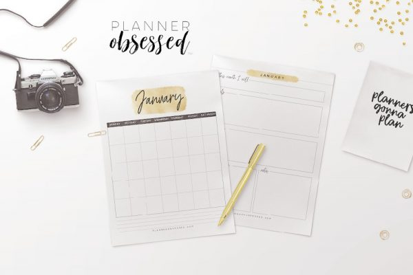 100+ Gold Printable Planner Pages